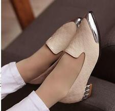 Ballerine mocassini scarpe donna rasoterra beige argento tacco 3 cm comode 8268