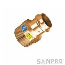 V Profil Kupfer Pressfitting Übergang mit Aussengewinde | DVGW-Gas+Wasser