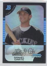 2005 Bowman Draft Picks & Prospects Chrome Refractor #BDP120 Daniel Carte Card