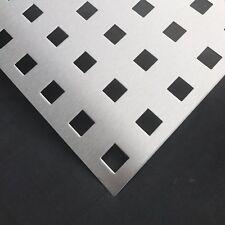Aluminium Lochblech Geländer QG 20-50, Einseitig mit Schutzfolie, Stärke 2mm NEU