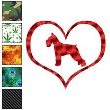 Heart Standard Schnauzer Dog Decal Sticker Choose Pattern + Size #1522