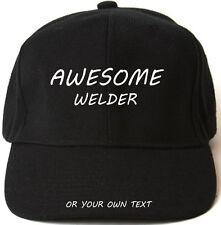 Impresionante Soldador Personalizado De Béisbol Cap Hat Regalo De Navidad Arc Tig Mayor Mejor Papá