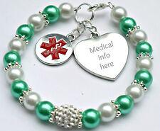 Fatto a mano INCISA FASHION Medical Alert Bracciale heart disease pacemaker info