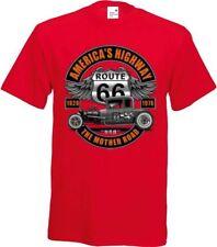 T-Shirt nei toni del rosso con un Hot Rod US Langenhagen`50 Modello American
