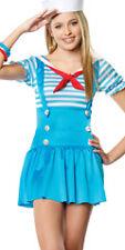 JR SAILOR GIRL AGE 10 11 12 STRIPY COSTUME LEG AVENUE NAUTICAL SEA ANCHOR
