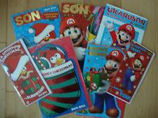 SUPER Mario Angry Birds cartolina di natale figlio nipote aperto
