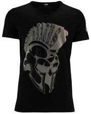 DIS IRATIS NATUS (D.I.N.) Herren T-Shirt Iro bling Kreuz double schwarz V-Neck