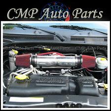 DODGE DURANGO HEMI 5.7L V8 DUAL TWIN AIR INTAKE KIT SYSTEMS 2004-2007 RED