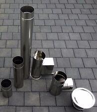 Edelstahl Rauchrohr Abgasrohr Ofenrohr Schornstein Sanierung Premium 0,6 mm