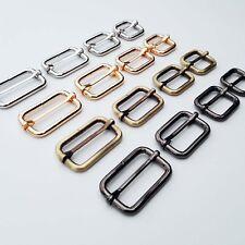 Metal Leather Hand Bag Strap Belt Web Adjust Tri-glide Buckle Slider Rectangle
