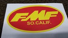 FMF Vintage Motocross Sticker Decal, 6mil stickers (2) pair