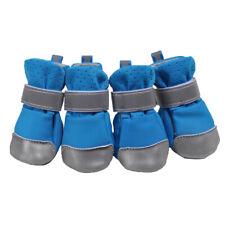 4er Pfotenschutz Atmungsaktive Hundeschuhe mit Anti-Rutsch Sohle für Hunde