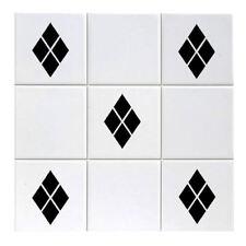 Tile Diamond Transfers 5.7cm x 4.7cm Kitchen or Bathroom Stickers