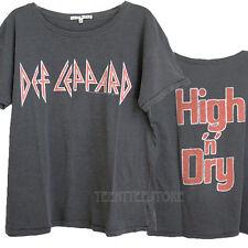 Junk Food Def Leppard High 'n' Dry Ex- Boyfriend Crew T-shirt Women Runs Large