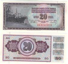 YOUGOSLAVIE billet neuf de 20 DINAR Pick85 DOCK PORT GRUE   BATEAU 1974