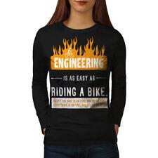 Bicicleta De Paseo ingeniero para mujeres de manga larga Camiseta Nuevo | wellcoda