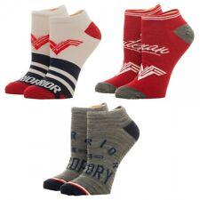 Wonder Woman Movie Logo DC Comics 3 Pack Ankle Socks Nwt