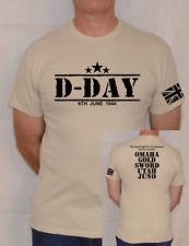 D-DAY,ARMY,1944,NORMANDY, MILITARY,WW2,CHURCHILL,BEACHES,FUN T SHIRT