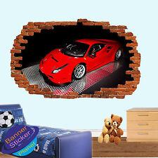 Super Rosso Sport Ferrari Auto Race Adesivo Muro Camera Ufficio Arredamento Decalcomania Murale ZL5