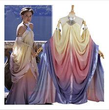 Star Wars Personalizado Cosplay Vestido de Reina Padme Naberrie Amidala Disfraz de Royal AA