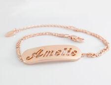 18ct Rose Gold Plated Personalised Bracelets | AMELIE AMIRA ANAIS ANJA ANNIKA