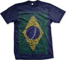 Brazil Faded Flag Brazilian Country Pride Born From Heritage Bra Men's T-Shirt