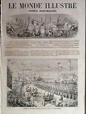 LE MONDE ILLUSTRE 1861 N 230 ARRIVEE DE S.M. NAPOLEON III A BIARRITZ LE 30 AOÛT