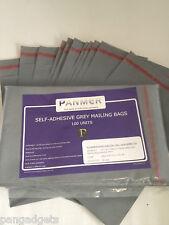 """Mailing borse affrancatura POLY sacchetti di plastica grigio 6.5 """"X 9"""" (170mm x 230 mm) 1000"""