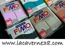Pain de pâte Fimo Effect 56g résine couleur (blanc)au choix perle bijoux collier