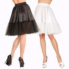 Universeller Damen Unterrock knielang Trachtenmode Petticoat Rock Kostüm-Zubehör