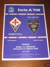 FIORENTINA LECCE PROGRAMMA PROGRAMME SERIE A 2004/05