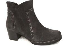 Gabor Comfort Damen Schuhe Stiefeletten Stiefel Boots grau darkgrey Leder