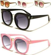 5ed4e3e022 Gafas Sol de Diseñador NIÑOS Redondo Ojos Gato Negro Rosa Retro Uv400  Infantil