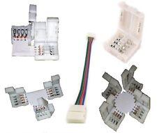 LED RGB Stripe L Eck Winkel 90° T Kreuz + Verbinder Strip Schnellverbinder Klick