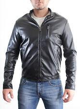 ▶ Jacket Vest jacket Bomber Stud Man Slim Fit in of PU LEATHER mod.G5a◀