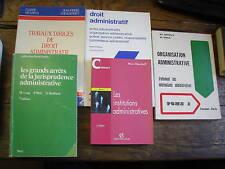 lot de 6 livres de droit administratif