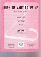 partition MESSAGE rien ne vaut la peine  (song from the m.a.s.h )