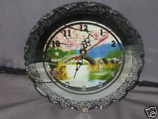 Decorative Glass Mirrored Clock Time Home Office Bridge
