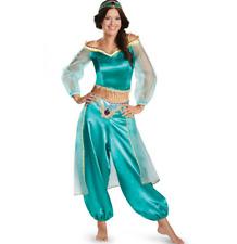 Erwachsene Damen Aladdin Prinzessin Jasmine Cosplay Kostüm Karneval Kleid DEU