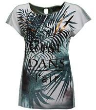 No Secret T-Shirt Damen Palmen für Mollige mit großen Größen kurzarm Übergrößen
