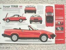 1980/1981 TRIUMPH TR8/TR-8 SPEC SHEET/Brochure/Catalog/