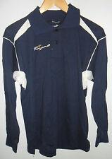 Polo 2 bottoni maniche lunghe ROYAL Sandy blu navy linea All Time 100% cotone