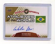 2010 WORLD OF SPORTS WILSON REIS AUTOGRAPH AUTO, MMA