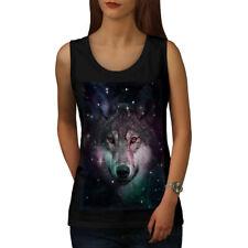 Wolf Space Cosmos Animal Women Tank Top NEW   Wellcoda