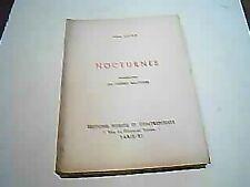 Jean LOISY: Nocturnes.E.O.n°tée. ENVOI