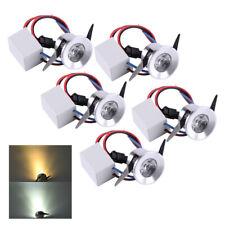 230V IP44 Mini-LED Lichtpunkt Bad-Strahler 3 Watt hell wie 30W /& Konverter Sets