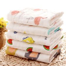Baby 6 Layer Gauze Saliva Handkerchief Cartoon Soft Cotton Square Muslin Towel