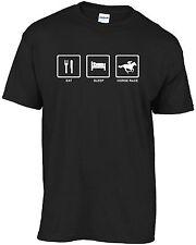 Horse racing - Eat Sleep Horse Race t-shirt