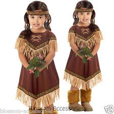 CK60 Lil Indian Girls Native Pocahontas Toddler Child Book Week Party Costume