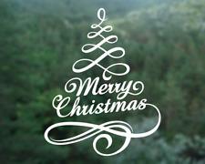 Merry Christmas sticker, Merry Christmas decal for shopfront window cafe shop